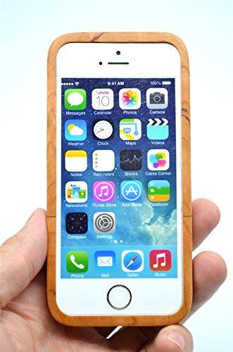 Holzsammlung® iPhone SE / iPhone 5S / iPhone 5 Holzhülle - Kirschholz - NatürlicheHandgemachteBambus / Holz Schutzhülle für Ihr Smartphone Kirschholz