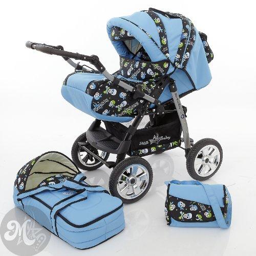 Preisvergleich Produktbild Milk Rock Baby Star Cruiser Kombikinderwagen (Regenschutz, Moskitonetz) 14 Aqua & Aqua Pirate