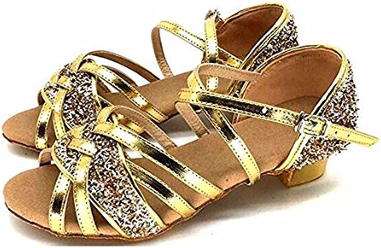TGKHUS Sandalias Zapatos De Baile Mujer Soft Sequins