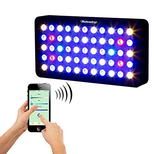 Marina Led-aquarium-licht (Roleadro WiFi LED Aquarium Light 165W Lampe für Aquarium Panels 400X 212X 60MM Für Fische Koralle Marino mit Pflanzen 400x 212x 60mm 6Band Spektrum Licht)