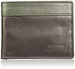 Flying Machine Brown Green Mens Wallet (FMAW0237)