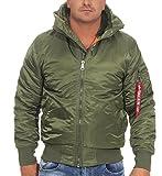 Alpha Industries Jacke MA-1 Hooded w.o. fur, Farbe:sage-green;Größe:M