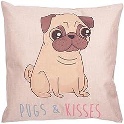 Cojín con inserto Pugs & Kisses