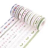 JUNGEN 1 Rollos Cinta Adhesiva Kawaii Washi Cinta Decorativas Washi Tape para DIY Craft Scrapbooking regalo, color al azar