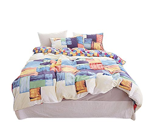 Ken Graffiti-Blätter Bettbezug Kissenbezug-Set (Einzelbett, Doppelbett, Vier Größen),Ordinary,200Cm(6.6Inch)