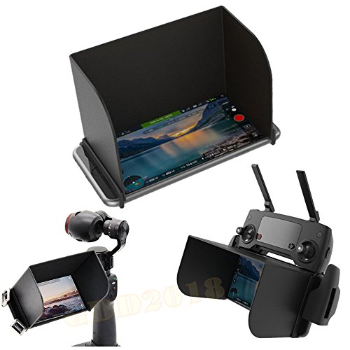Preisvergleich Produktbild GDD2018 Telefon Monitor Sun Haube Sonnenschirm für DJI MAVIC PRO Phantom 4 3 Inspire 1 M600 Romote Control DJI OSMO Zubehör (Schwarz L128)