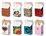 8 Karton Zigarettenschachtel ÜBERZIEHER Hülle FÜR 20er SCHACHTELN / L-Schachteln / Hülle Zigarettenschachtel 8er SET / ausgesuchte DESIGNS für FRAUEN