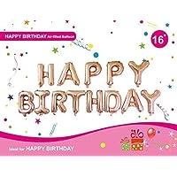 "ROSE GOLD Happy Birthday Set 16"" - 13 Letters + Ribbon - NEW"
