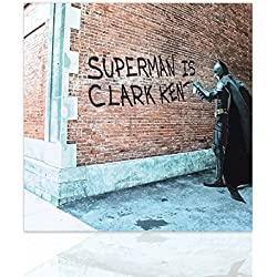 Declea La pintura moderna Batman Superman listo para colgar cuadro superheroe la lona de arte moderno en el marco de madera decoración de la pared Diseño