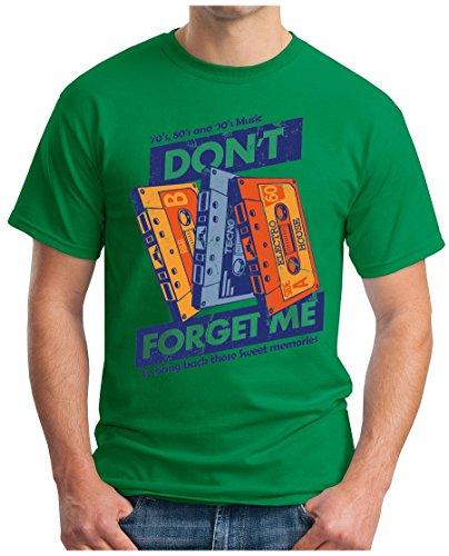 OM3 - DONT-FORGET-ME - T-Shirt TAPE MC CC 70 80 90's TECNO HOUSE ELEKTRO RnB SWEET MEMORIES Grün