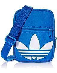 adidas Festvl B Trefoi - Bolso unisex, color azul / blanco, talla NS