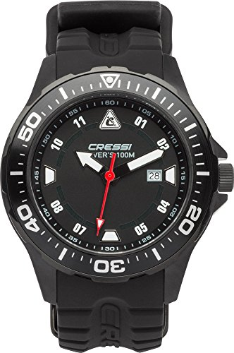 Cressi Manta Reloj Submarino, Unisex Adulto, Negro, U