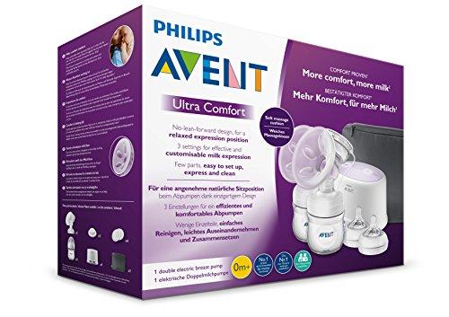 Philips Avent SCF334/31 Elektrische Komfort Doppelmilchpumpe, weiß - 9