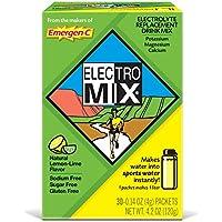 Emergen-C Electro Mix mezcla de bebidas de reemplazo de electrolitos, Potasio, magnesio, Calcio, 0,14g paquetes (30Count)