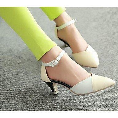 Rtry Zapatos De Mujer Pu Spring Spring Pump Comfort Comfort Tacones Para Casual Blushing Rosa Negro Beige Us8 / Eu39 / Uk6 / Cn39