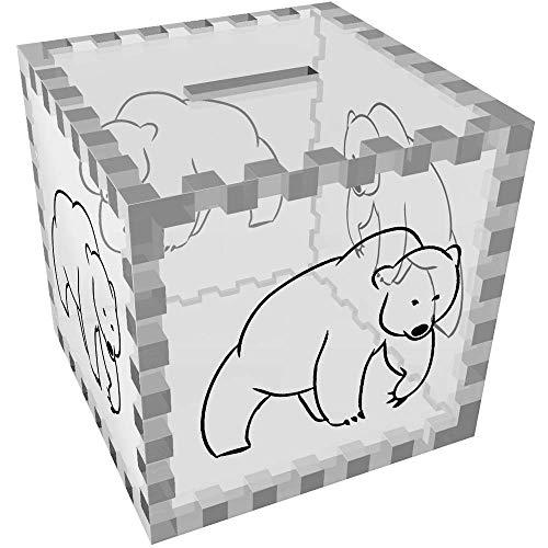 Azeeda 'Oso' Caja de Dinero / Hucha (MB00071787)