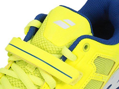Babolat Junior Propulse All Court Tennis Shoes - Yellow/Blue Yellow/Blue
