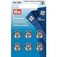 13 mm Prym-Bottoni a pressione da cucire, confezione da 6, colore: argento