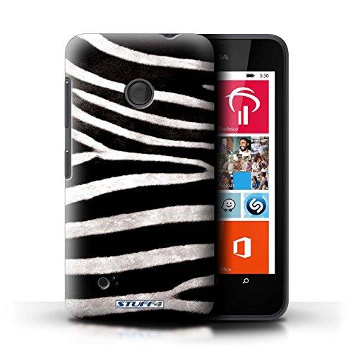 Kobalt® Imprimé Etui / Coque pour Nokia Lumia 530 / Chien conception / Série Motif Fourrure Animale Zèbre