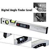 #8: Digital Protractor Angle Finder electronic Level 360 degree Inclinometer angle slope tester Ruler 400mm tool meter set angular