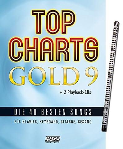 Top Charts Gold 9 mit Piano-Bleistift + 2 CDs: das tolle Songbuch mit den 40 besten Songs arrangiert für Klavier, Keyboard, Gitarre und Gesang [Musiknoten - Ausgabe Dezember (Sportfreunde Stiller Rosenheim)