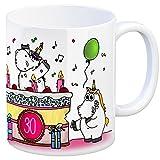 Kaffeebecher mit Einhorn Geburtstagsparty Motiv zum 30. Geburtstag - eine coole Tasse von trendaffe - passende weitere Begriffe dazu: Unicorn Einhorngeschenk lustig witzig Spruch Einhorntasse kuscheln niedlich Torte Party Geburtstagstorte Geburtstagskuchen für Frauen Geburtstagstasse 30ten oder 30er .