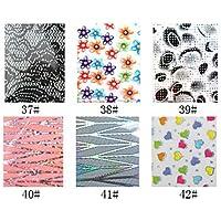 alallti 1pcs cartuccia Foil Nail decorazioni stellato adesivi per unghie, N. 37–42(130x 4,5x 0.1cm, colori assortiti)