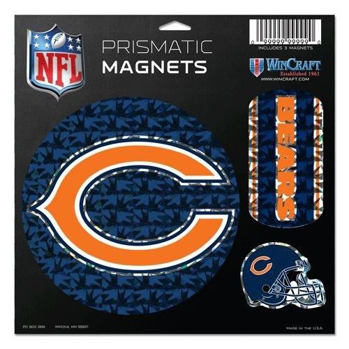 Wincraft NFL Chicago Bears Prismatischer Magnete Tabelle, 27,9x 27,9cm Team Farbe