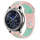 10principales Samsung Gear S3Bracelet de montre, bracelet de rechange Bracelet Sangle en silicone pour Samsung Gear S3Frontier/classique Smart Watch M D