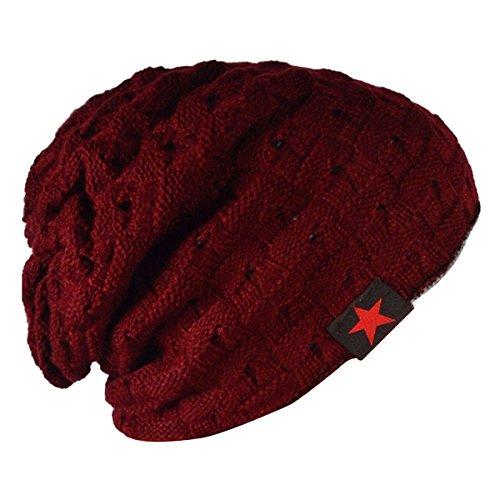 thenice-men-reversible-slouchy-beanie-hat-unisex-skull-hat-red
