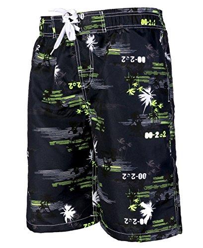 APTRO® Herren Slim Fit Freizeit Shorts Casual Mode Urlaub Strand-Shorts Sommer Kokosnuss Palmen Gelb1526