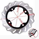 Ambienceo Rotor del Disco de Freno Trasero de la Motocicleta para Honda CBR600 F2 / F3 / F4 / F4i 1991-2006 92-03