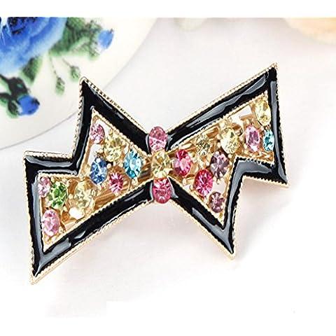F&HY&L Clip de temperamento Corea flequillo tapa clip mariposa Mini tachonados de cristal-primer decorado primavera pequeña abrazadera clip , hairpin an035