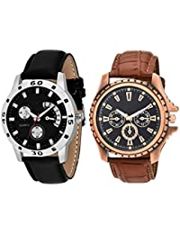 On Time Octus Combo Of 2 Analog Watch For Boys And Mens- OT-207-208