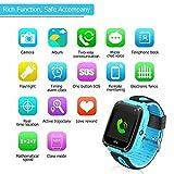 Bambini Smart Watch Phone, GPS Tracker Smart orologio da polso per 3-12 anni Ragazze con SOS Camera Sim Card Slot Touch Screen gioco Smartwatch Giocattoli Regalo per bambini (Blu)