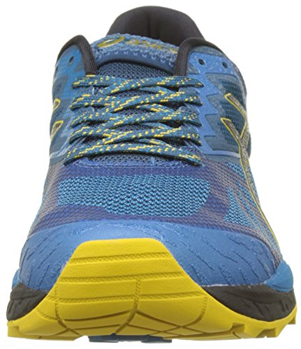 Asics Gel-Fujitrabuco 6, Scarpe da Trail Running Uomo Blu (Turkish Tile/black/lemon Curry 4690)