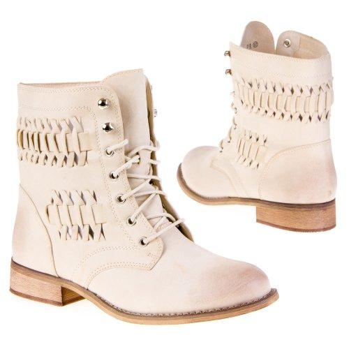 Schuhe Stiefeletten 755 Damen Hellbeige pa 1wA6AqZ