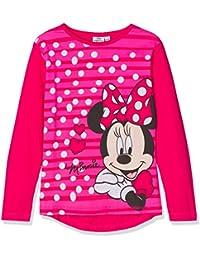 Minnie LS T-Shirt, Top de Manga Larga para Niñas