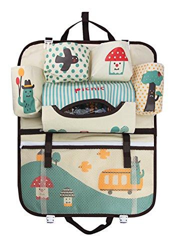 Rücksitztasche Rückenlehnenschutz Spielzeugtasche SorgfäLtig AusgewäHlte Materialien 2x Rückenlehnentasche