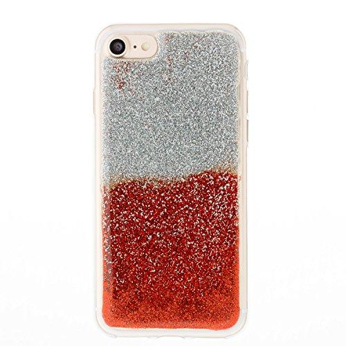 custodia iphone 8 rossa silicone