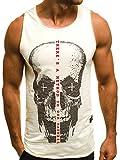OZONEE Herren Tanktop Tank Top Tankshirt T-Shirt mit Print Unterhemden Ärmellos Weste Muskelshirt Fitness 724