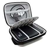 "Stoßsichere schwarze Schutzhülle / Hardcase/Tasche / Festplattentasche für 2,5"" WD Western Digital Elements External My Passport Essential HDD tragbare, externe Festpla"