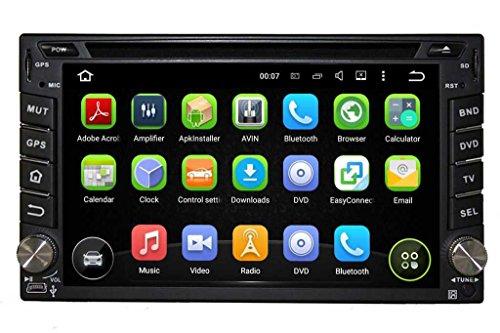 2 Din 6.2 pouces Android 5.1.1 Lollipop stéréo de voiture pour Nissan X trail 2001 2002 2003 2004 2005 2006 2007 2008 2009 2011,800x480 écran tactile capacitif avec Quad Core Cortex A9 1.6G CPU 16G flash et 1G de RAM DDR3 GPS Navi Radio Lecteur DVD 3G/WIFI Aux Input OBD2 USB/SD DVR