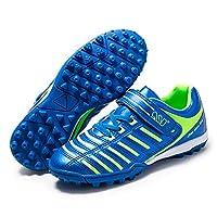 Kids' Voetbalschoenen, Boy Girl Football Training Shoes Zelfklevende Anti-Slip Lichtgewicht Outdoor Sneakers,Blue,29EU