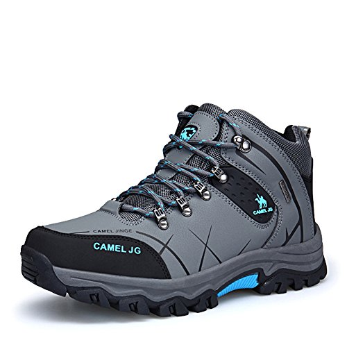 GOMNEAR Bottes de Randonnée High Top Trail Ankle Mountain Shoes Travel Trekking Boots Gris