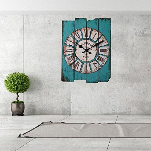 Uhren von Wand Start Vintage Rustikal Wand-Holz Holz Digital Uhren 1 (Spiegel Sunburst Holz)
