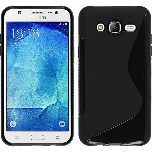 Funda de silicona para Samsung Galaxy J7 - S-Style negro - Cover...