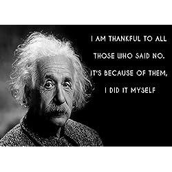 Póster con frase de inspiración de Einstein para decorar tu habitación con este genio valorado y apreciado en el mundo entero