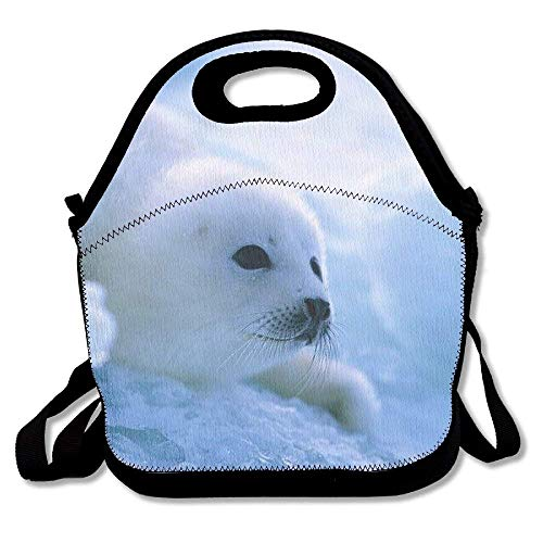 8f9a526559 Ntpclsuits Reusable Picnic Lunch Bags Lunch Tote Adorable Seal Lunch Box  For Men Women Adults Kids