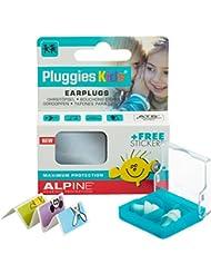 Alpine Pluggies Kids 2015 - Gehörschutz für Kleinkinder & Kinder, Gratis Namensaufkleber